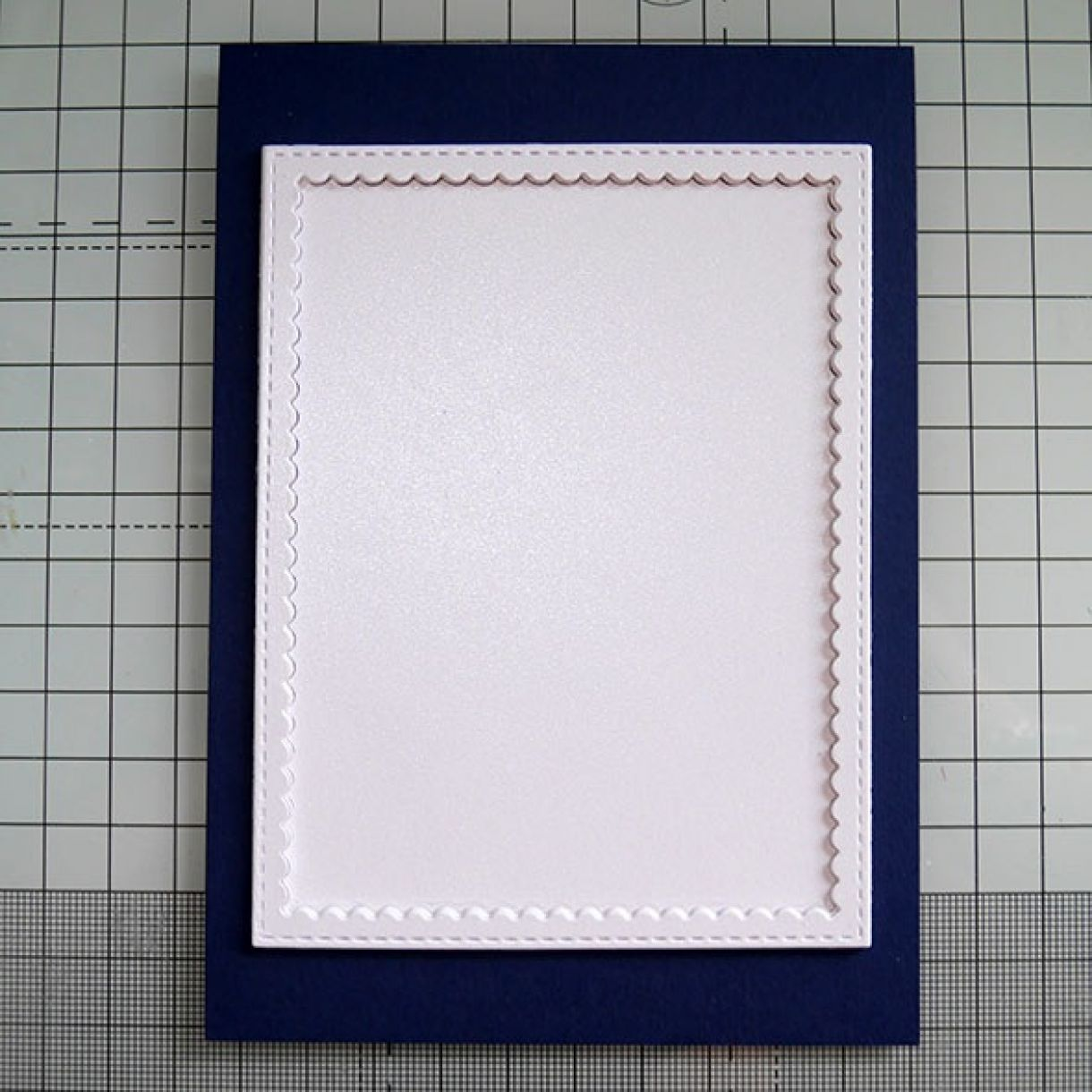 Nicole Navy White Shimmer House Card 7