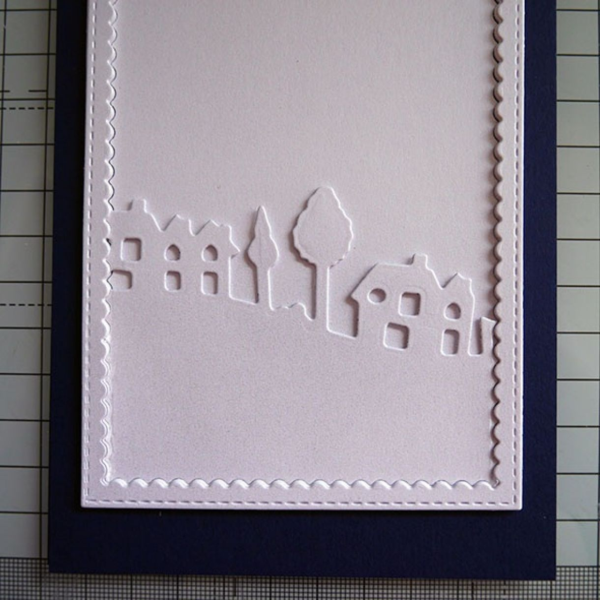 Nicole Navy White Shimmer House Card 8