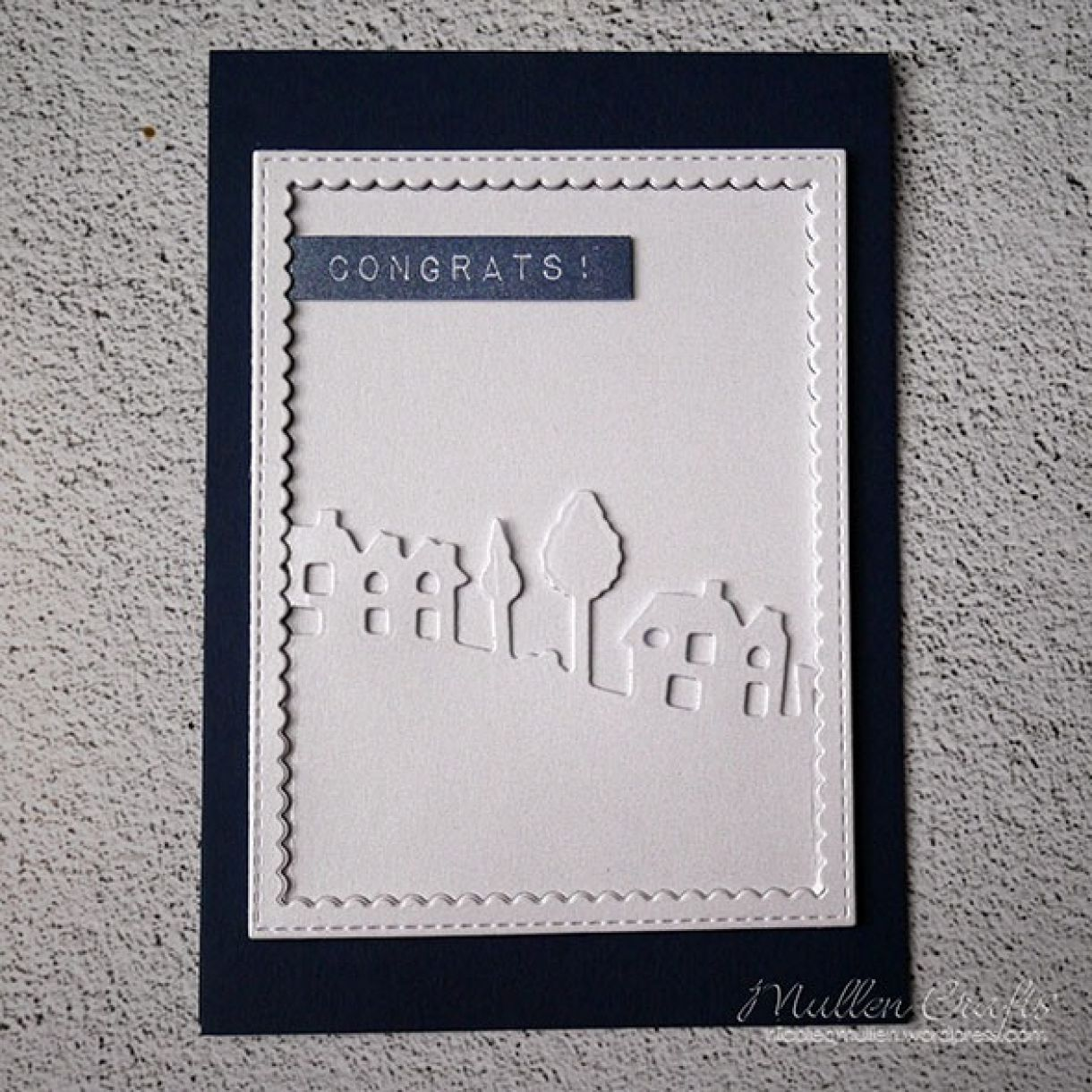 Nicole Navy White Shimmer House Card 9