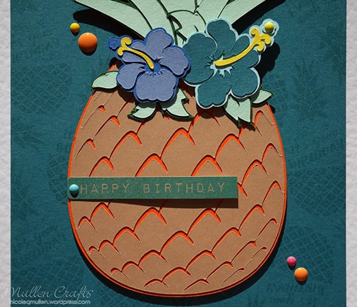 Nicole Pineapple Birthday Card 6
