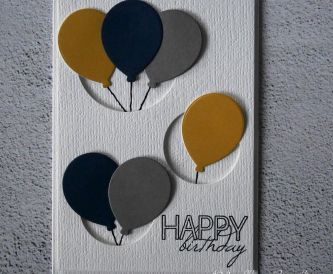 Pop Out Balloon Birthday Card