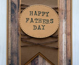 How To Make A Rustic Fathers Day Card