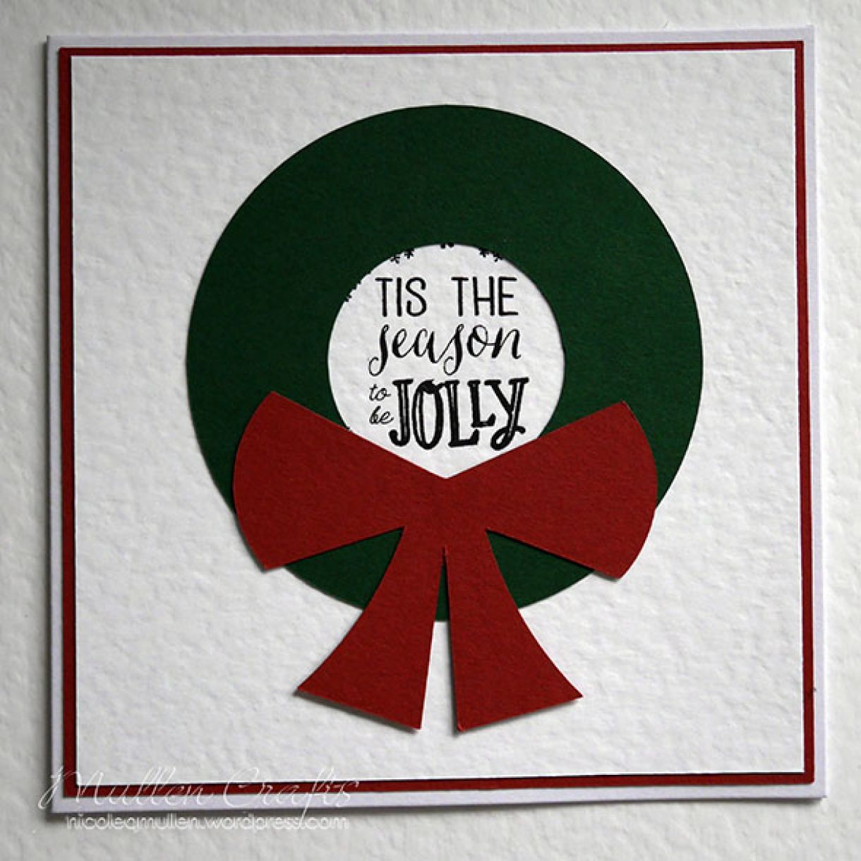 Nicole Wreath Card Tag 2