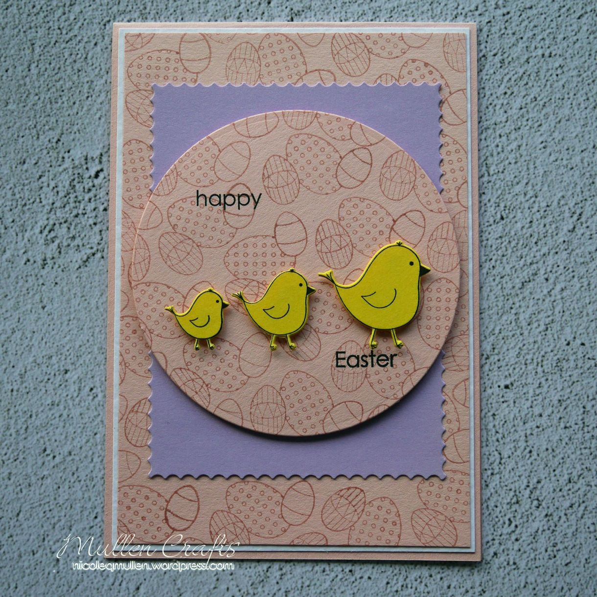 Nicole Yellow Easter Chick Card 12