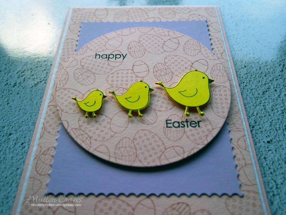 Nicole Yellow Easter Chick Card 13