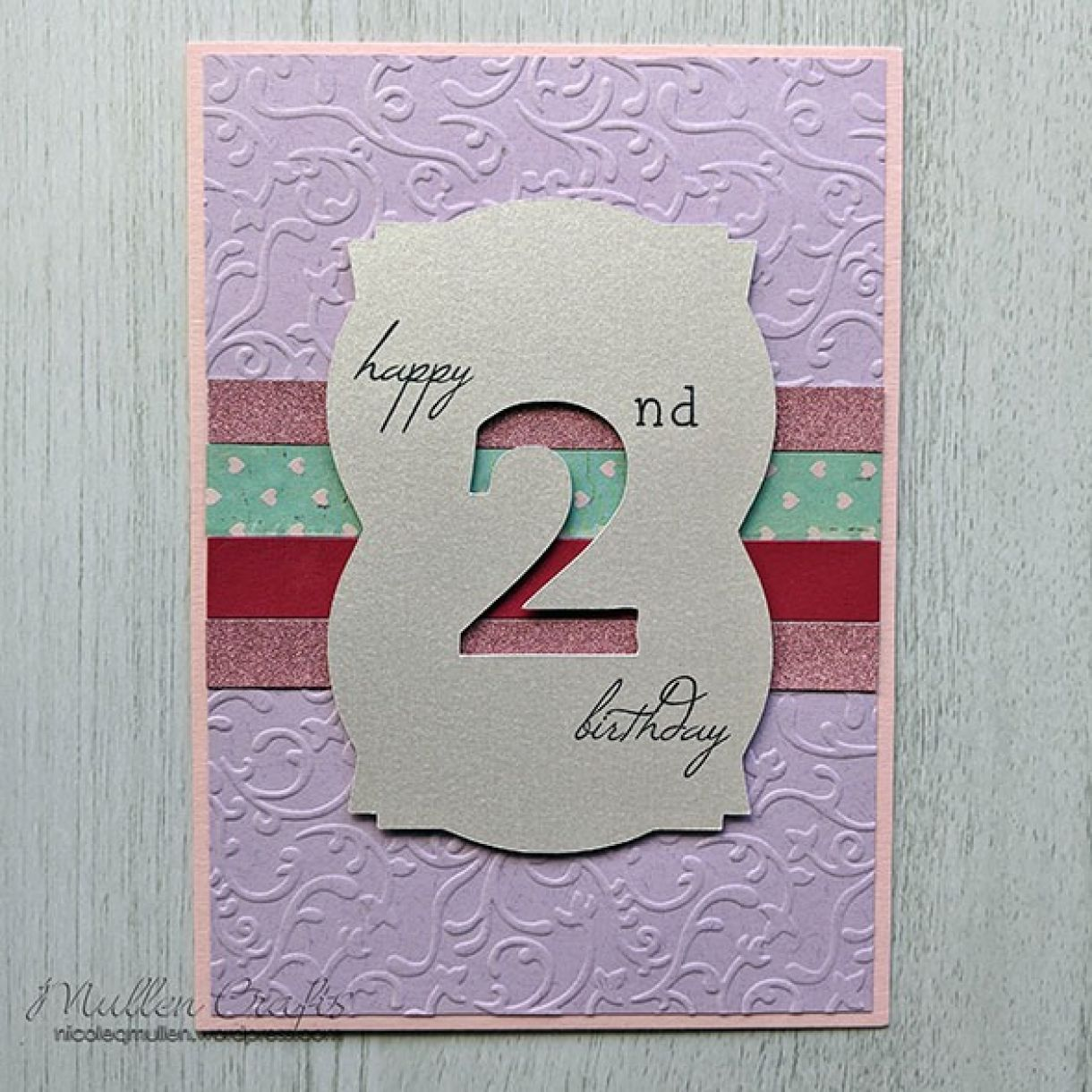 Nm Blue And Pink 2Nd Bday Card 8