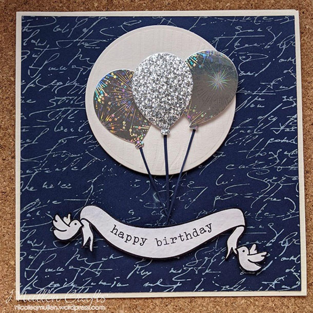 Nm Dark Blue And White Balloon Bday 4