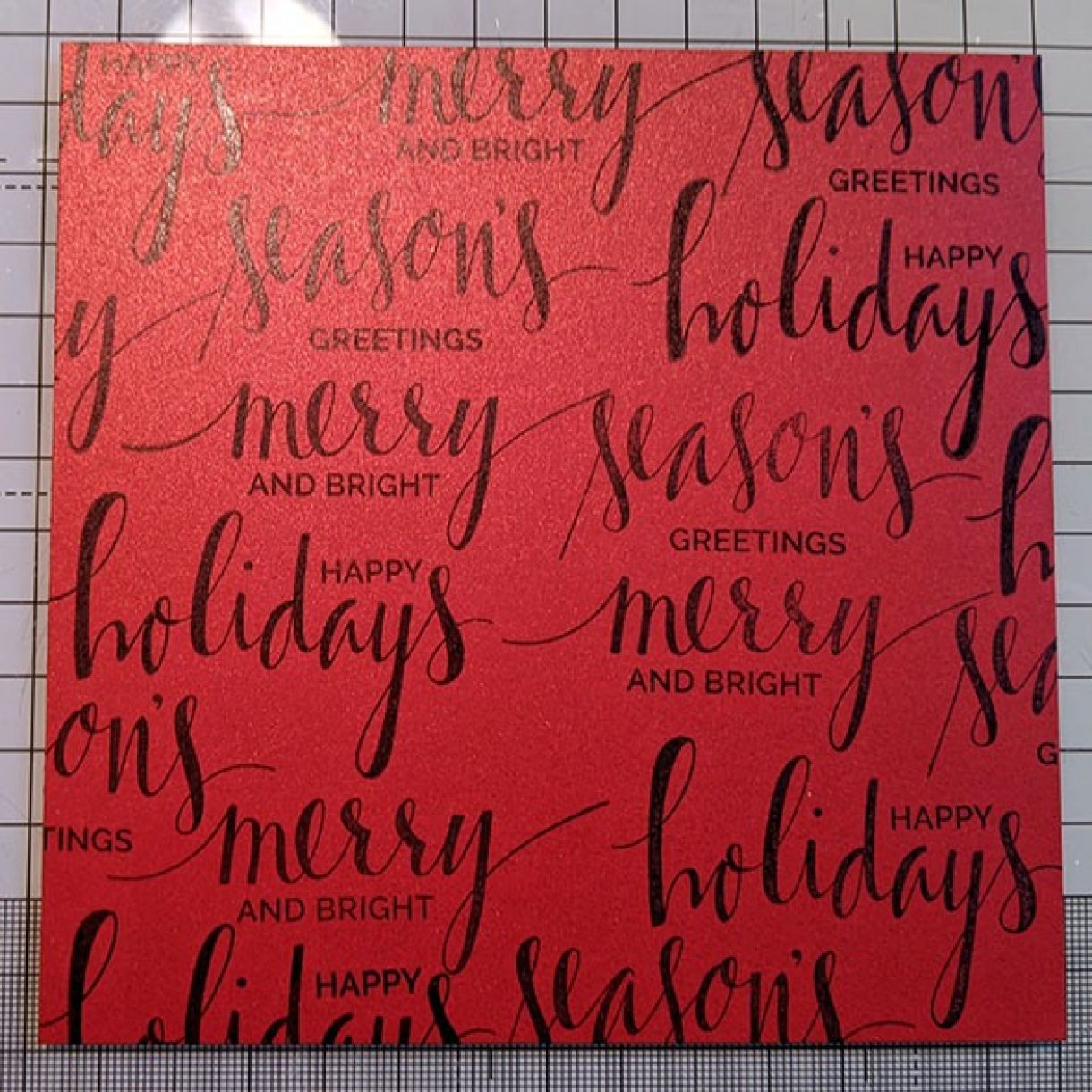 Nm Red Xmas Sentiment Bauble Card 2