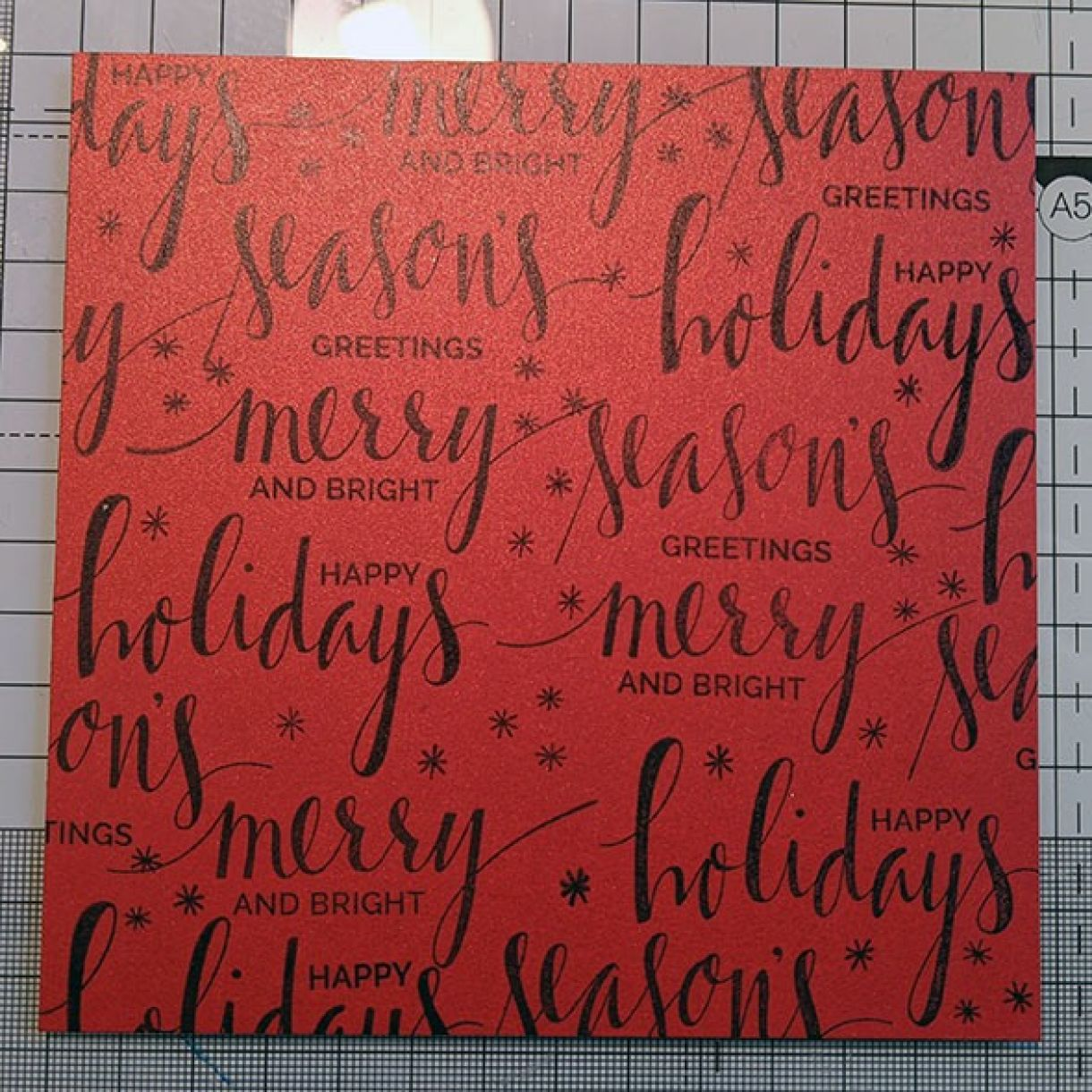 Nm Red Xmas Sentiment Bauble Card 3