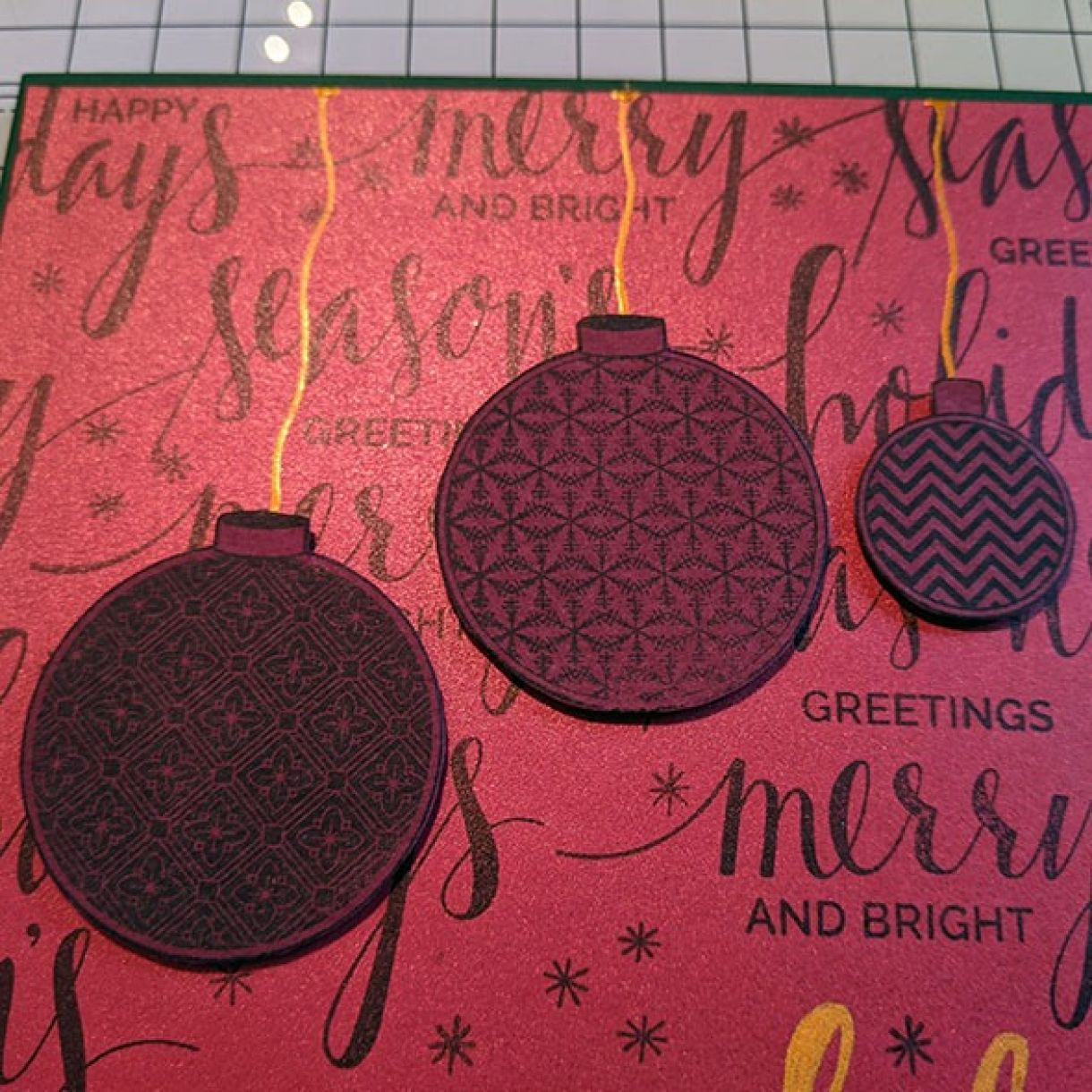 Nm Red Xmas Sentiment Bauble Card 5