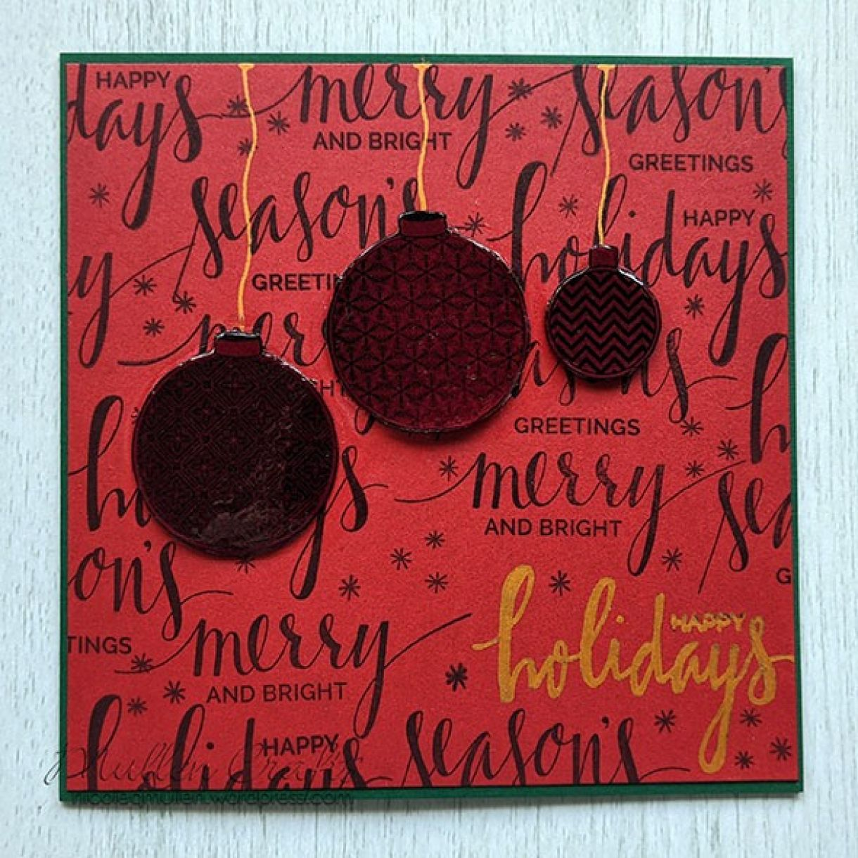 Nm Red Xmas Sentiment Bauble Card 6