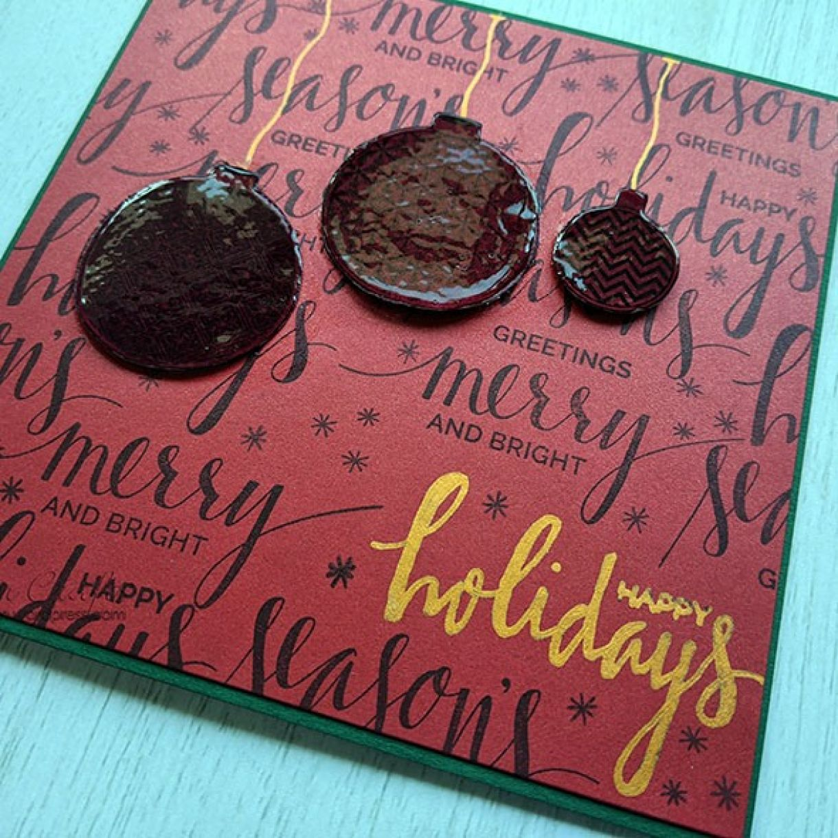 Nm Red Xmas Sentiment Bauble Card 7