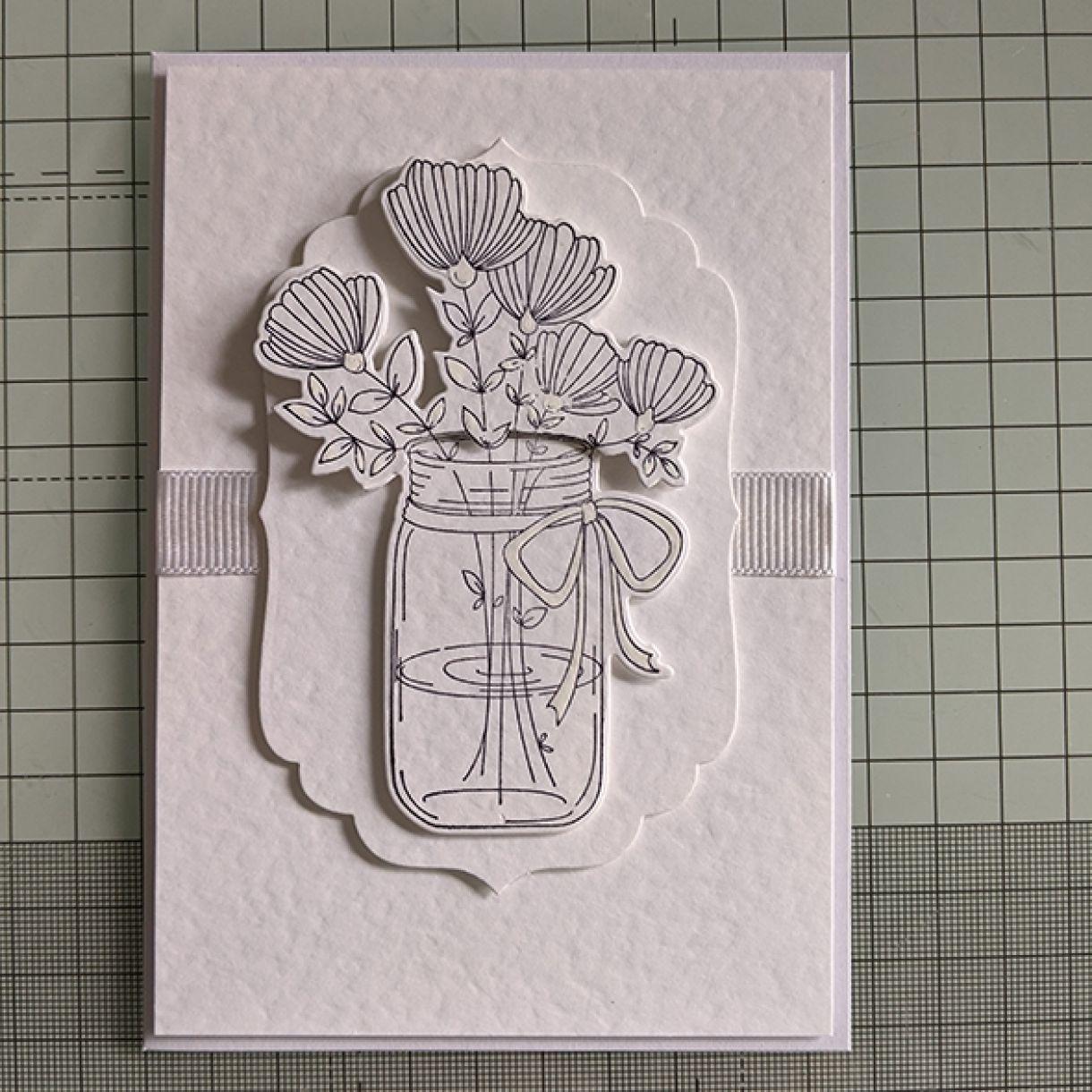 Nm White On White Vase Of Flowers 11