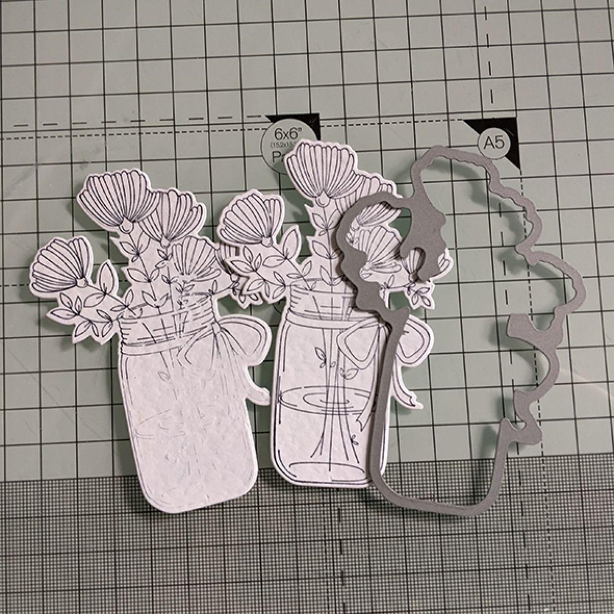 Nm White On White Vase Of Flowers 2