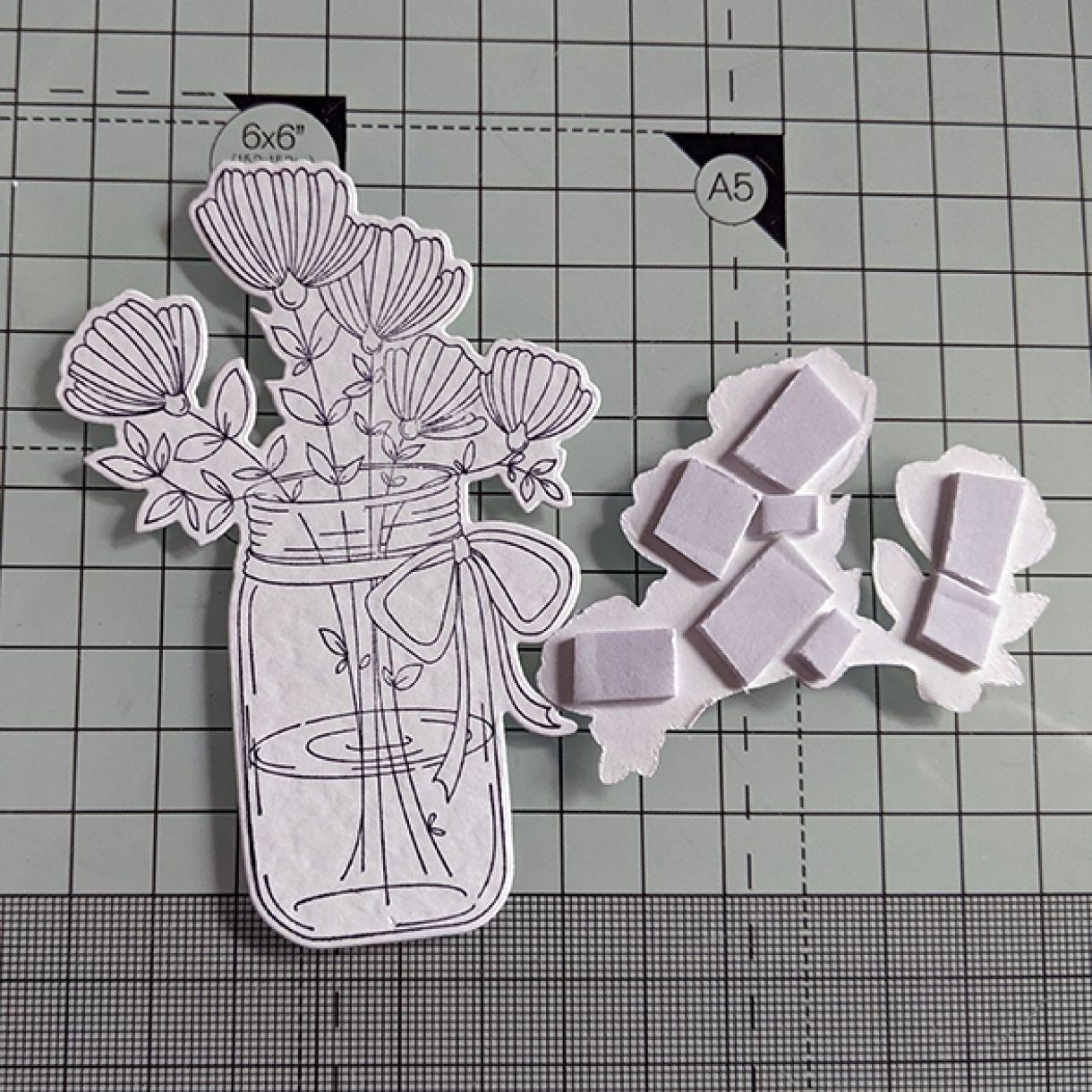 Nm White On White Vase Of Flowers 4
