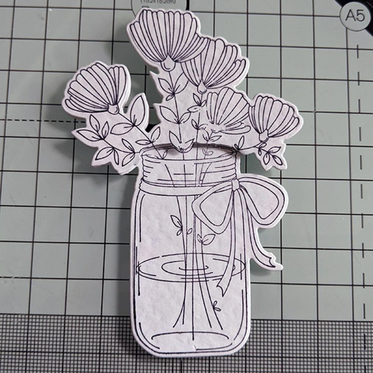 Nm White On White Vase Of Flowers 5