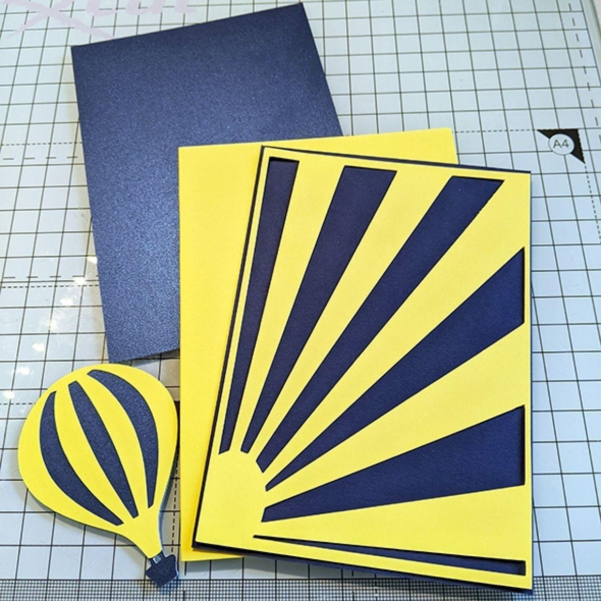 Nm Yellow Hot Air Balloon Card 1