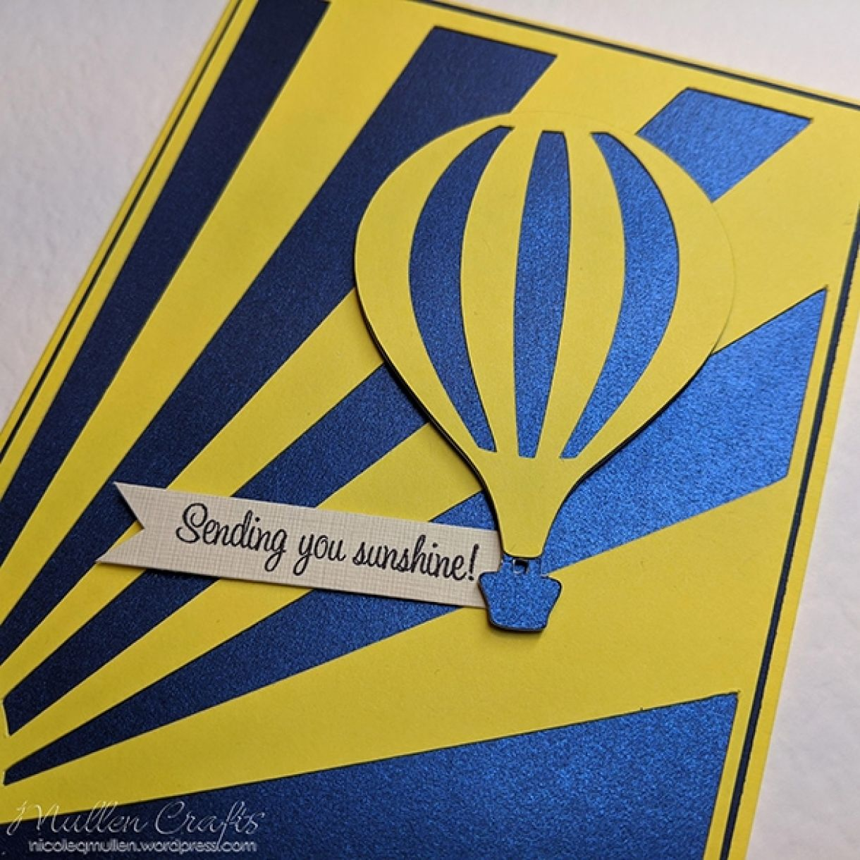 Nm Yellow Hot Air Balloon Card 2