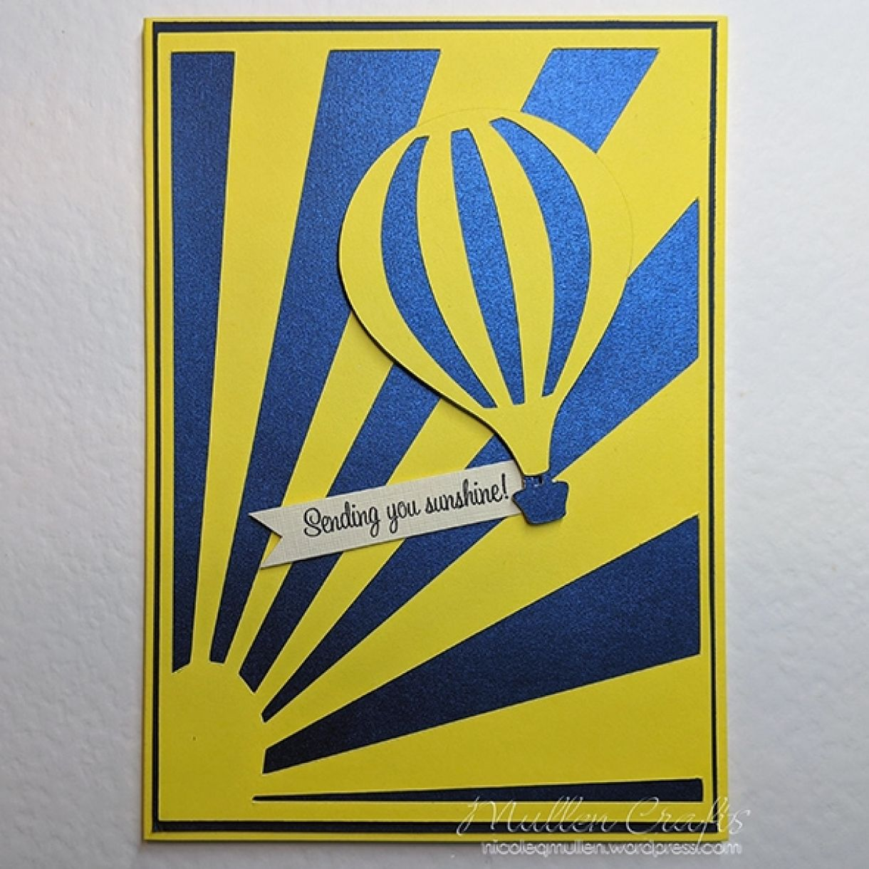 Nm Yellow Hot Air Balloon Card 3