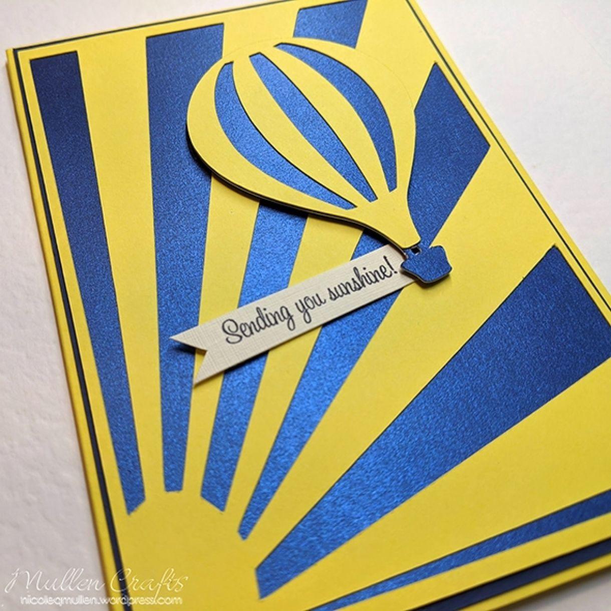 Nm Yellow Hot Air Balloon Card 4