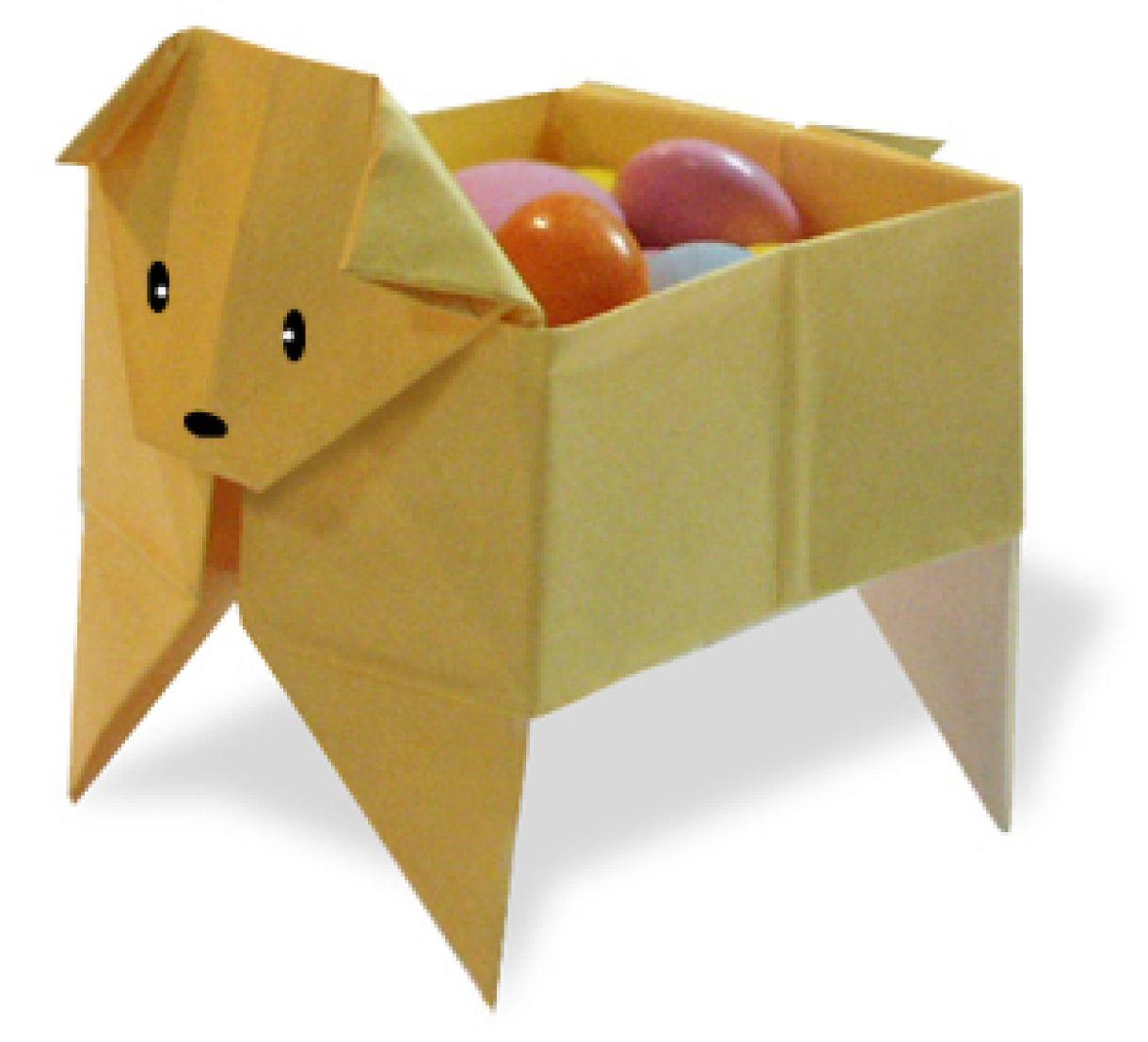 Origami Gift Box Shaped Like A Dog