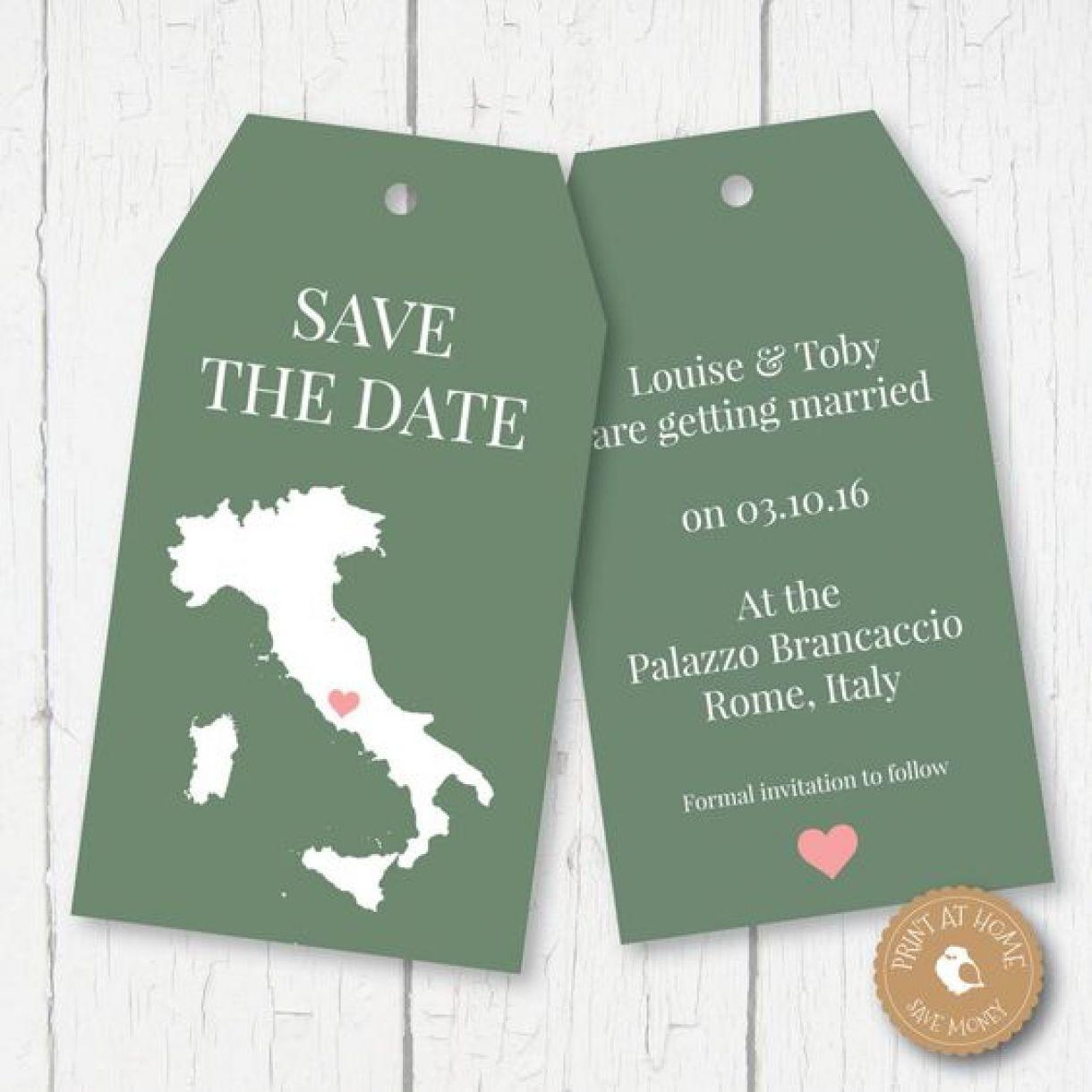 Overseas Save The Date Idea