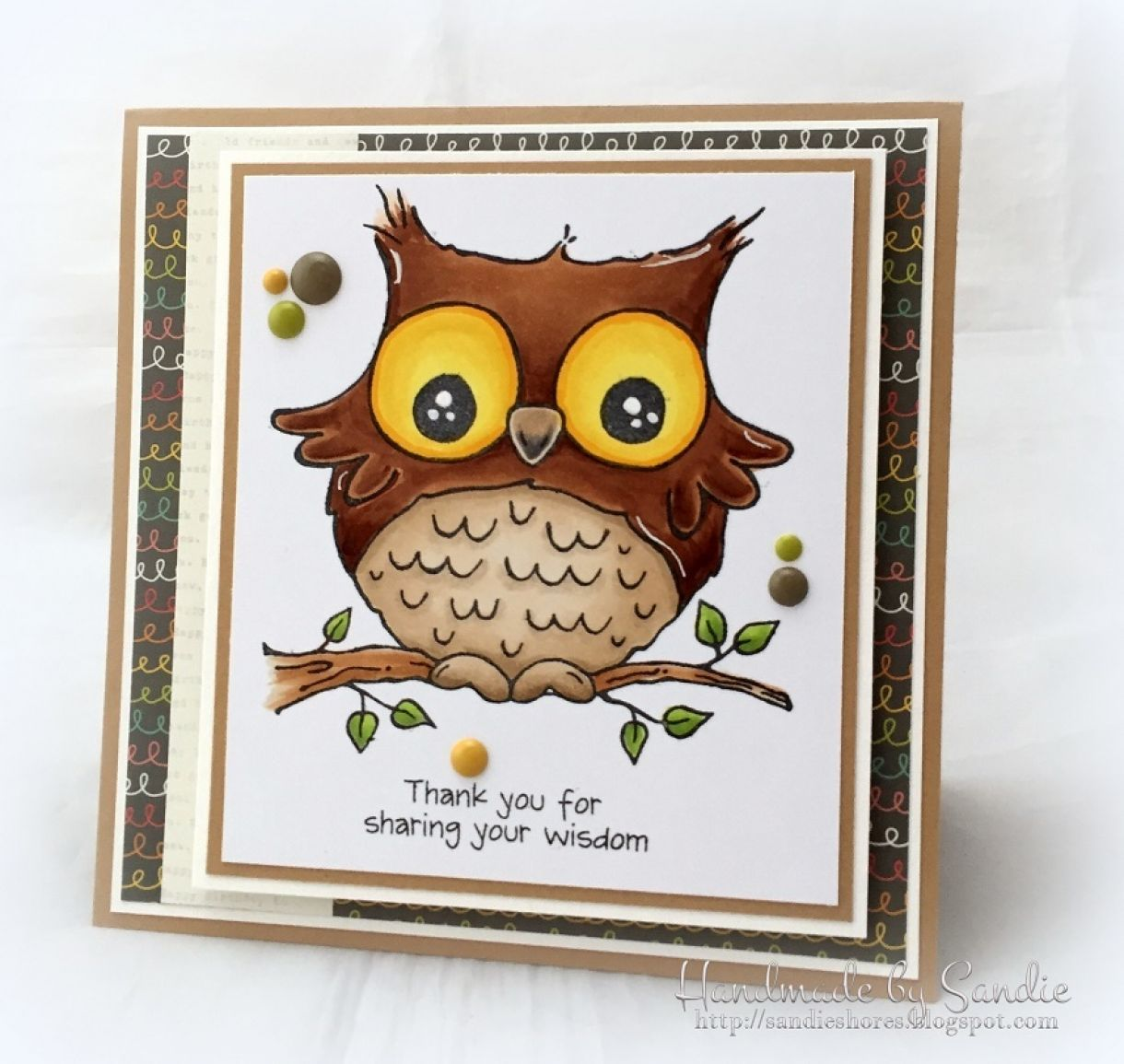 owl card for teacher