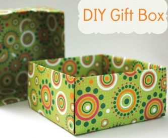 Paper gift bag and box tutorials