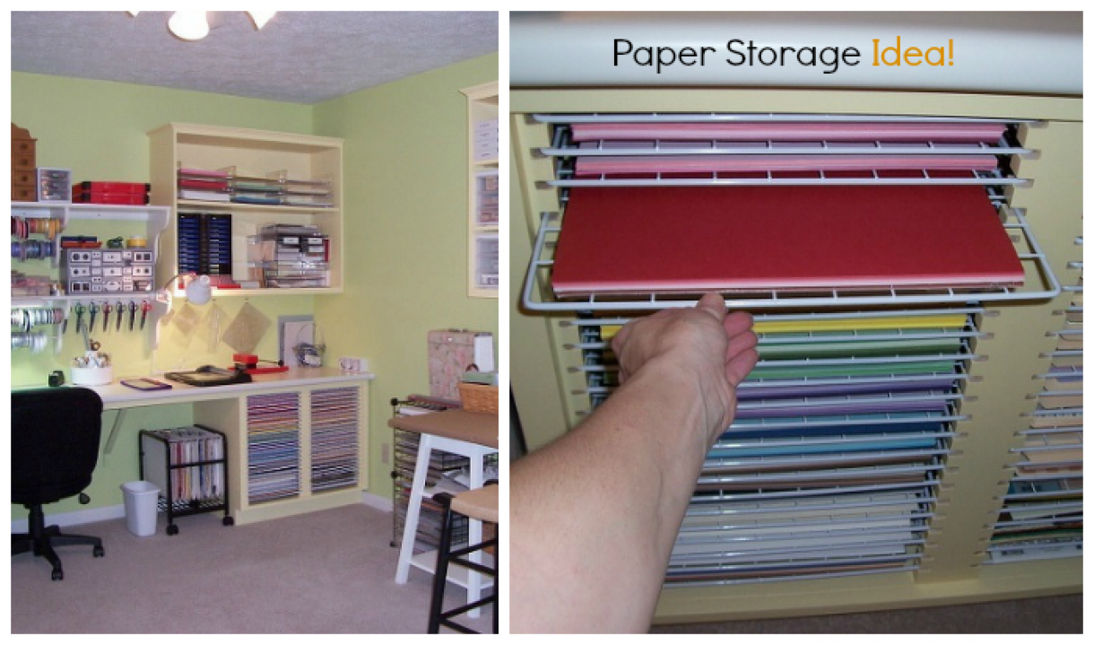Paper storage ideas for Craft paper storage ideas