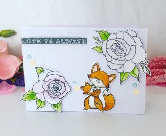 A Fox And Flowers Card
