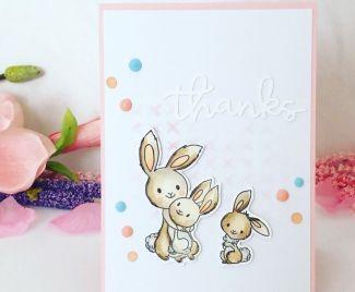 A Cute Bunny Thanks Card