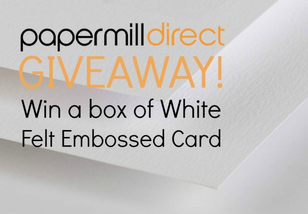 Papermilldirect Giveaway White Felt Embossed