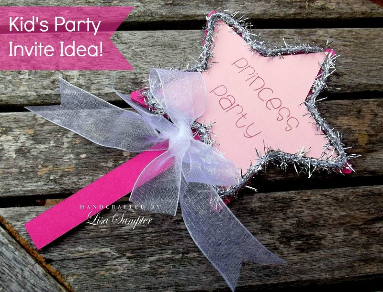 Party Invitation Princess Wand Diy