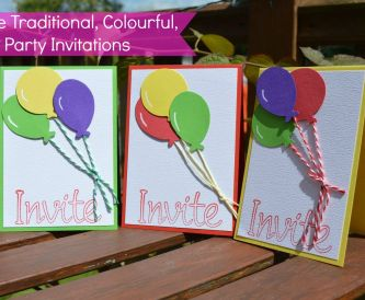 DIY Traditional Kids Party Invitations - Balloons
