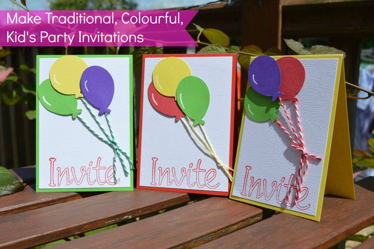 Party Invitations Traditional Balloons 1