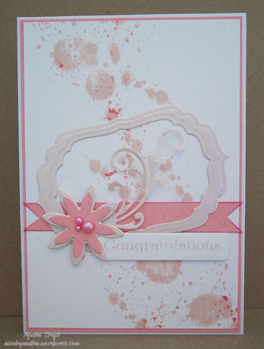 Framed congratultions card idea