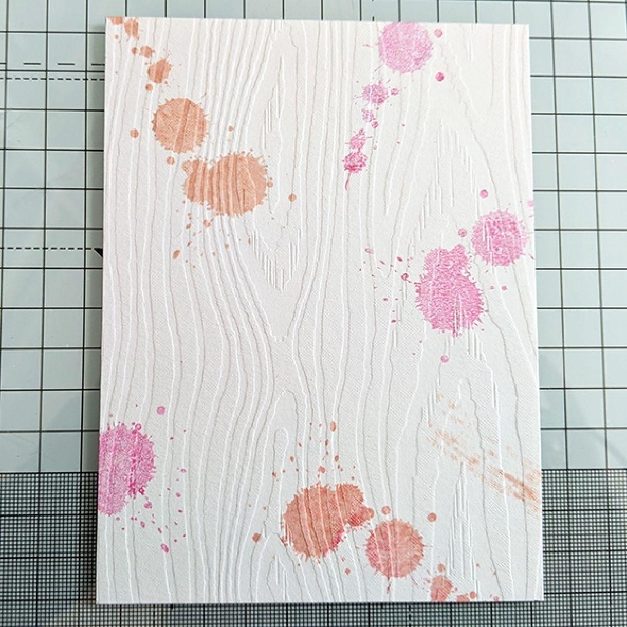 Pink Splatter Thank You Card 2