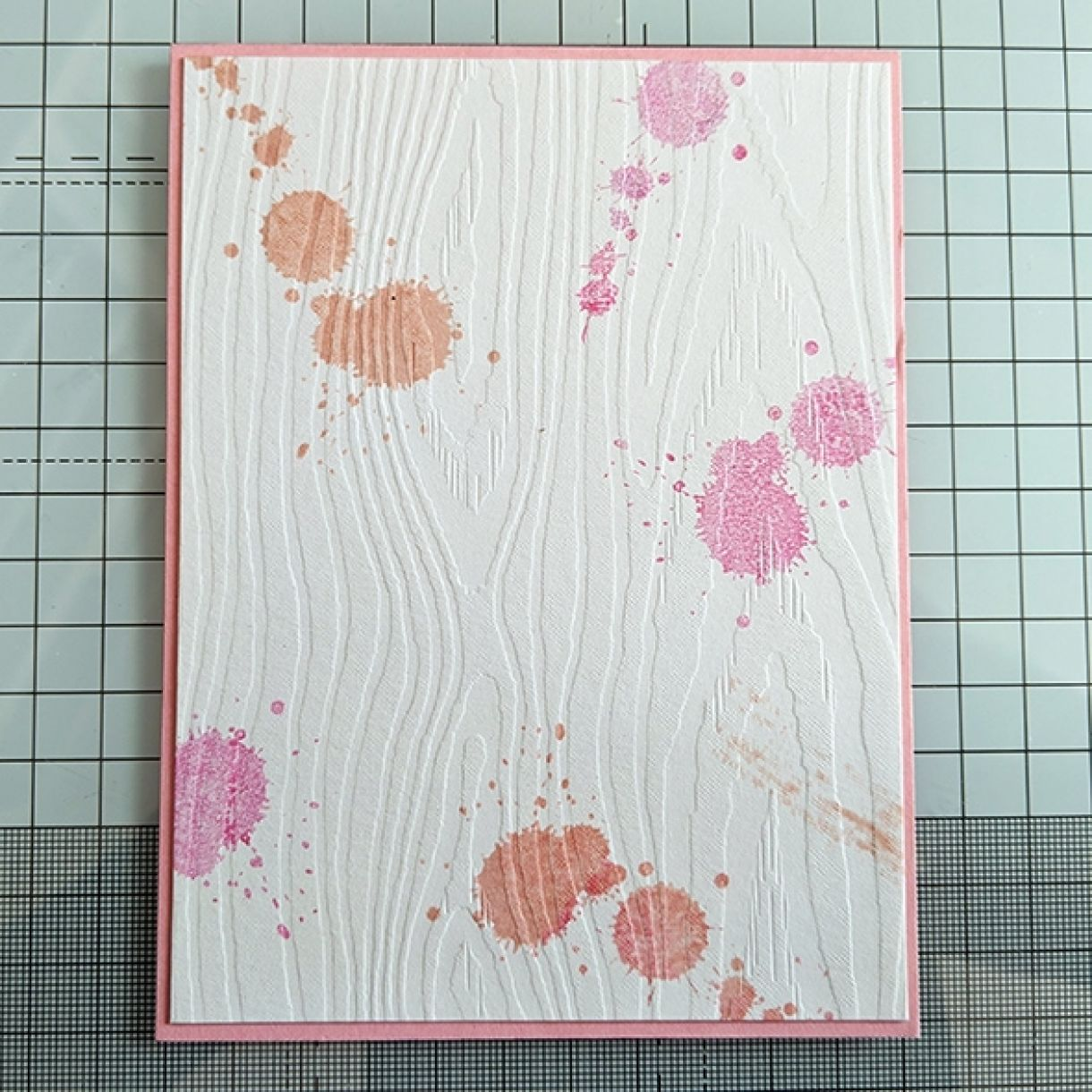 Pink Splatter Thank You Card 3