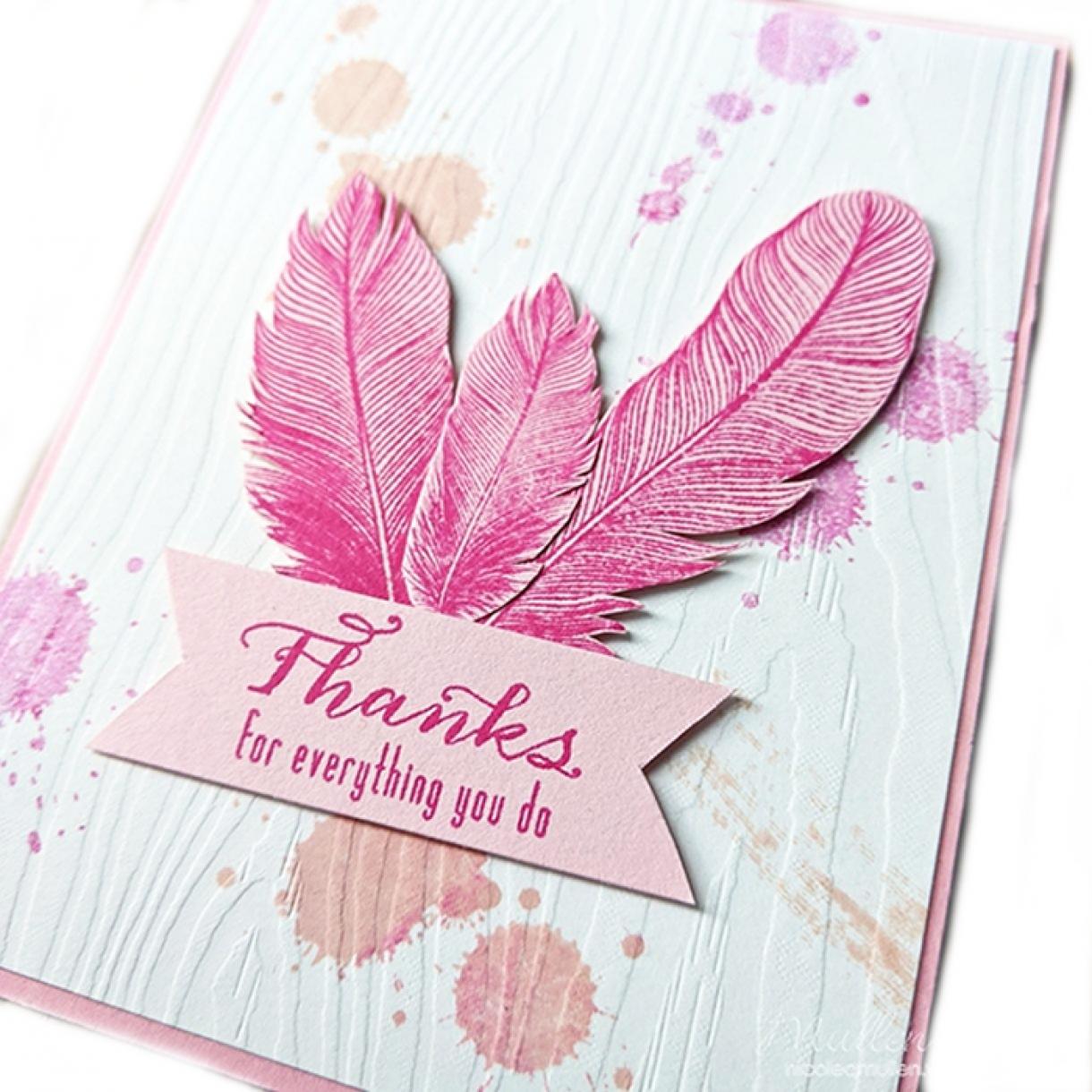 Pink Splatter Thank You Card 5 C870804Eb5Dd0D440545727Fd8680E78