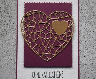 Purple Heart Congratulations Card
