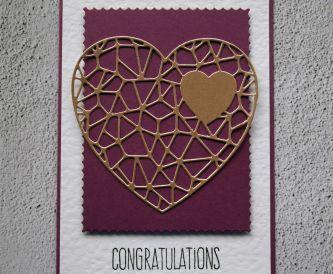 Purple Heart Congratulations Card