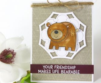 A Sweet Friendship Bear Card