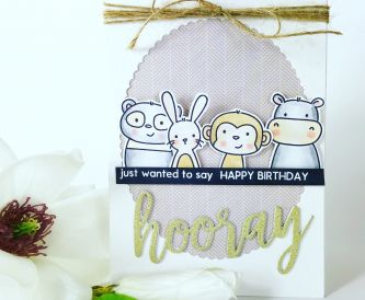 Hooray Happy Birthday Window Card