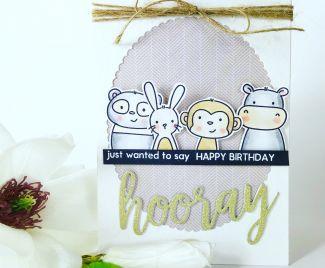 Hooray Happy Birthday Window Card