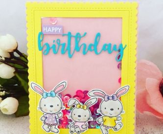 Happy Birthday Colourful Shaker Card