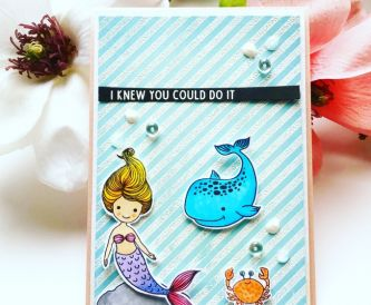 A Fun Mermaid Card