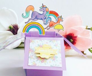 A Pop Up Unicorn Card