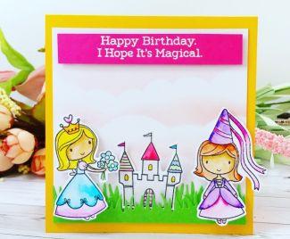 A Magical Princess Birthday Card
