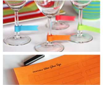 Paper Wine Glass Charms - Free Download