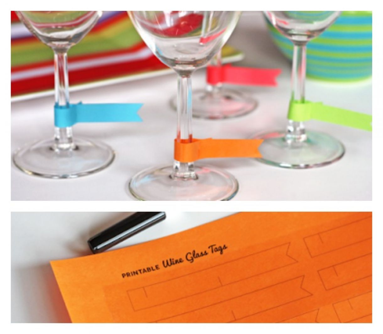 photo regarding Printable Wine Glass Tags named Paper Wine Gl Charms - No cost Down load